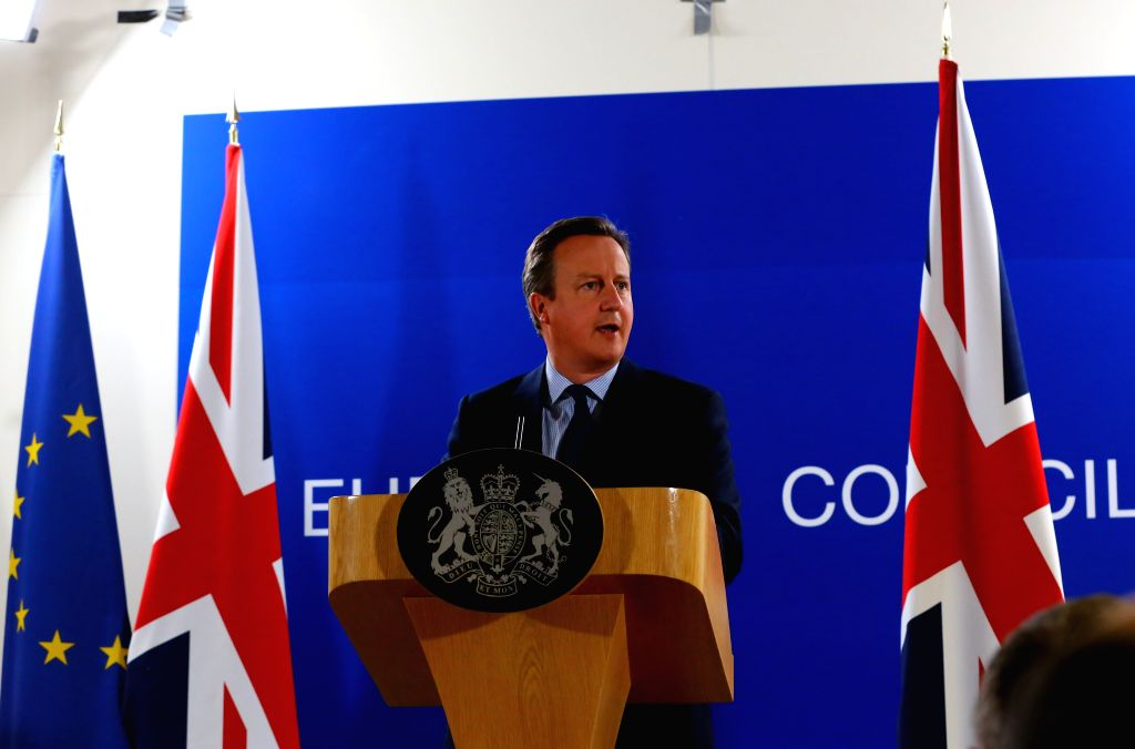 BRUSSELS, June 29, 2016 - British Prime Minister David Cameron holds a press conference in Brussels, Belgium, June 28, 2016. David Cameron said on Tuesday he would not trigger Britain's exit talks ... - David Cameron