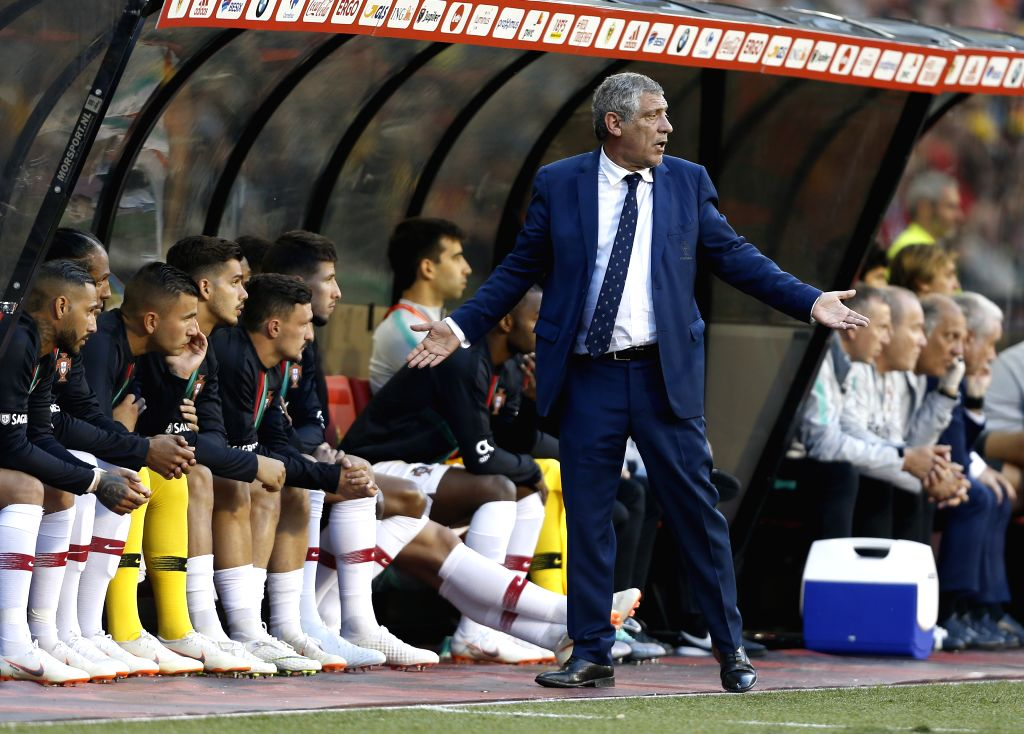 BRUSSELS, June 3, 2018 - Portugal's head coach Fernando Santos reacts during the International Friendly soccer match between Belgium and Portugal at the King Baudouin stadium in Brussels, Belgium, ...