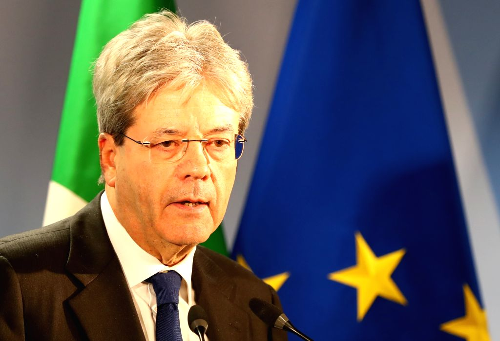 BRUSSELS, March 10, 2017 - Italian Prime Minister Paolo Gentiloni attends a press conference after the European spring summit in Brussels, Belgium on march 10, 2017. The leaders reportedly discussed ... - Paolo Gentiloni