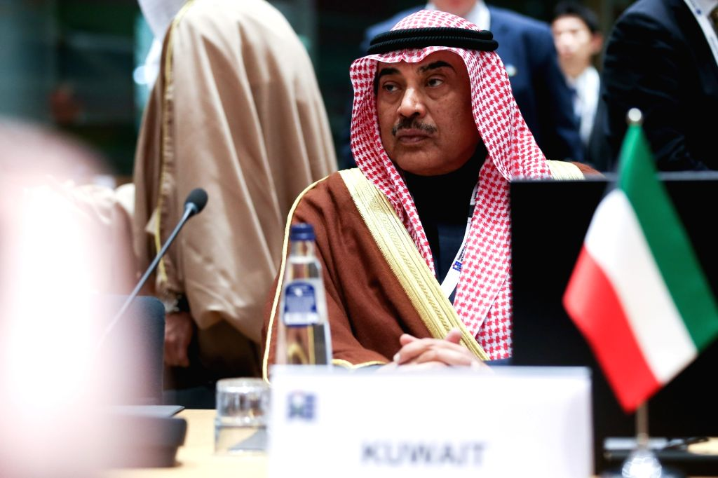 """BRUSSELS, March 14, 2019 - Kuwaiti Foreign Minister Sheikh Sabah al-Khalid al-Sabah attends the third conference on """"Supporting the future of Syria and the region"""" - Meeting of Foreign ... - Sheikh Sabah"""