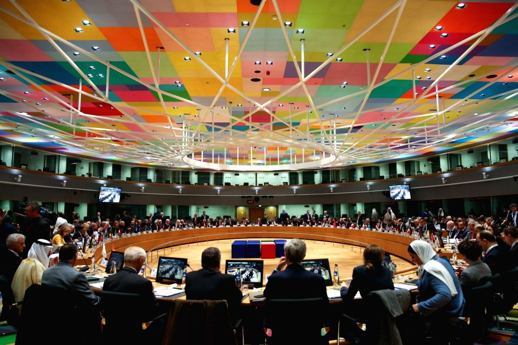 """BRUSSELS, March 14, 2019 - The third conference on """"Supporting the future of Syria and the region"""" - Meeting of Foreign Ministers is held at the EU Council in Brussels on March 14, 2019."""