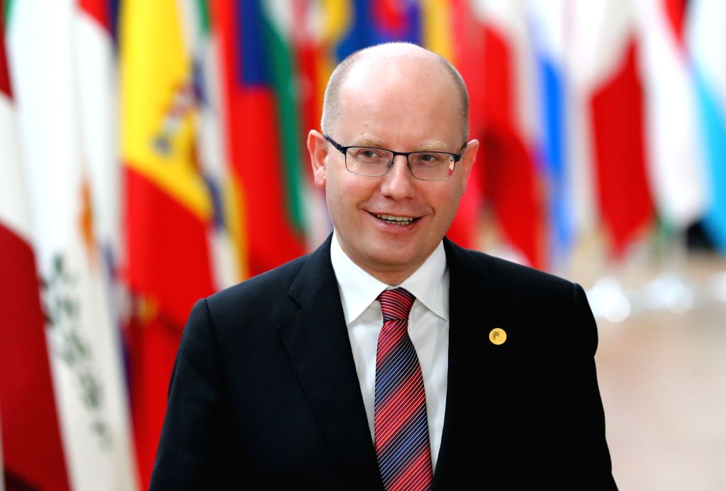 BRUSSELS, March 9, 2017 - Czech Prime Minister Bohuslav Sobotka arrives for the EU spring summit in Brussels, Belgium, on March 9, 2017. The European Council kicked off its spring summit on Thursday ... - Bohuslav Sobotka