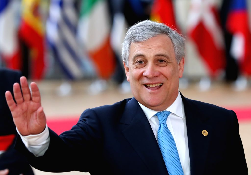 BRUSSELS, March 9, 2017 - European Parliament's President Antonio Tajani arrives for the EU spring summit in Brussels, Belgium, on March 9, 2017. The European Council kicked off its spring summit on ...