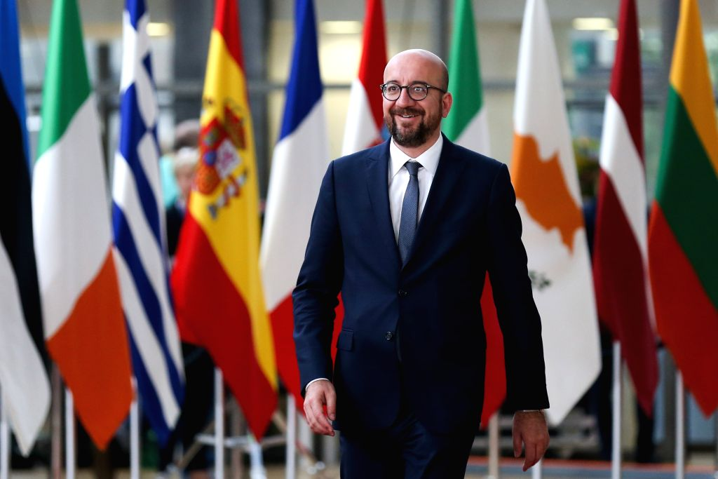BRUSSELS, May 28, 2019 - Belgian Prime Minister Charles Michel arrives at the European Union headquarters for an informal dinner of EU heads of state or government in Brussels, Belgium, on May 28, ... - Charles Michel