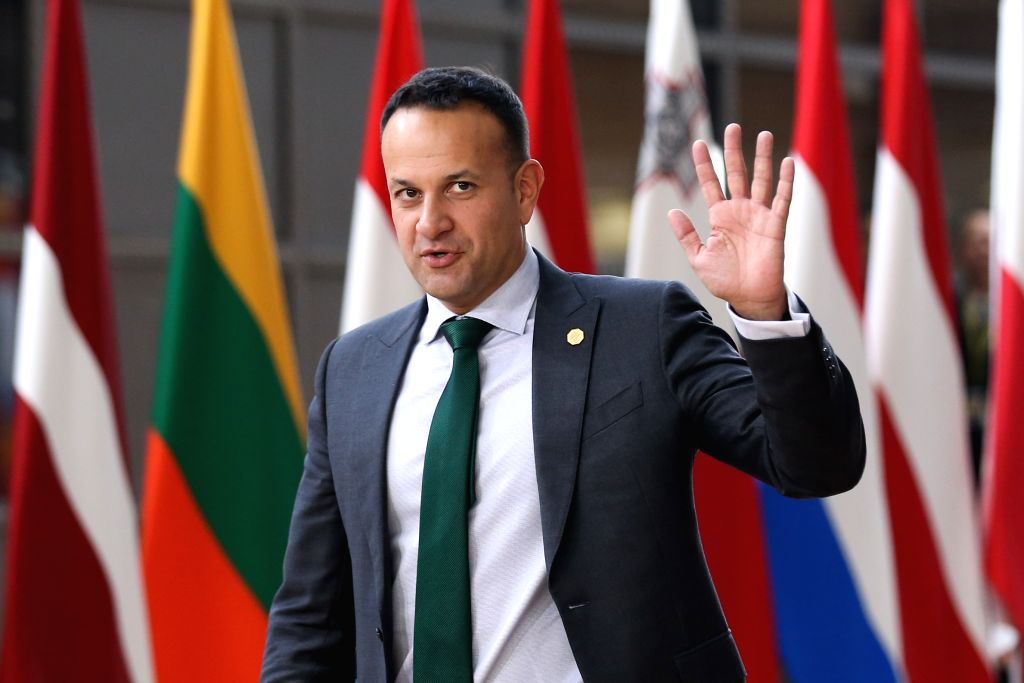 BRUSSELS, May 28, 2019 - Irish Prime Minister Leo Varadkar arrives at the European Union headquarters for an informal dinner of EU heads of state or government in Brussels, Belgium, on May 28, 2019. ... - Leo Varadkar
