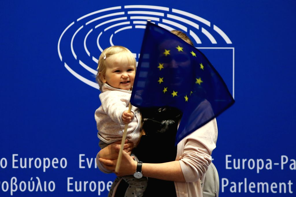 BRUSSELS, May 4, 2019 - People visit the European Parliament during the Open Day of the European institutions in Brussels, Belgium, May 4, 2019. The Open Day is a unique opportunity for the public to ...