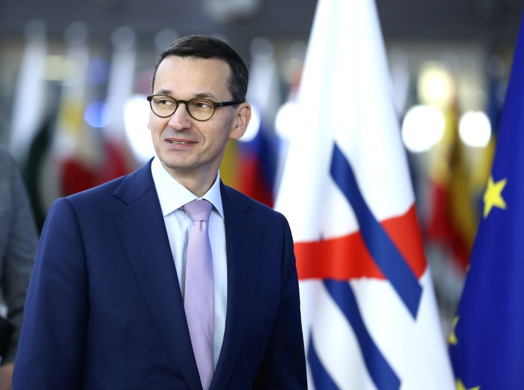 BRUSSELS, Oct. 19, 2018 (Xinhua) -- Polish Prime Minister Mateusz Morawiecki arrives for the second day of the 12th summit of the Asia-Europe Meeting (ASEM) in Brussels, Belgium, Oct. 19, 2018. (Xinhua/Ye Pingfan/IANS) - Mateusz Morawiecki