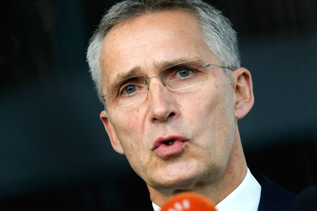 BRUSSELS, Oct. 24, 2019 - NATO Secretary General Jens Stoltenberg makes a statement at the NATO headquarters in Brussels, Belgium, on Oct. 24, 2019.