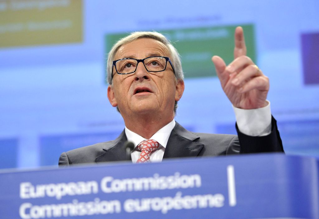 Newly-elected European Commission President Jean-Claude Juncker gives a press conference to announce the attribution of portfolios of European ...