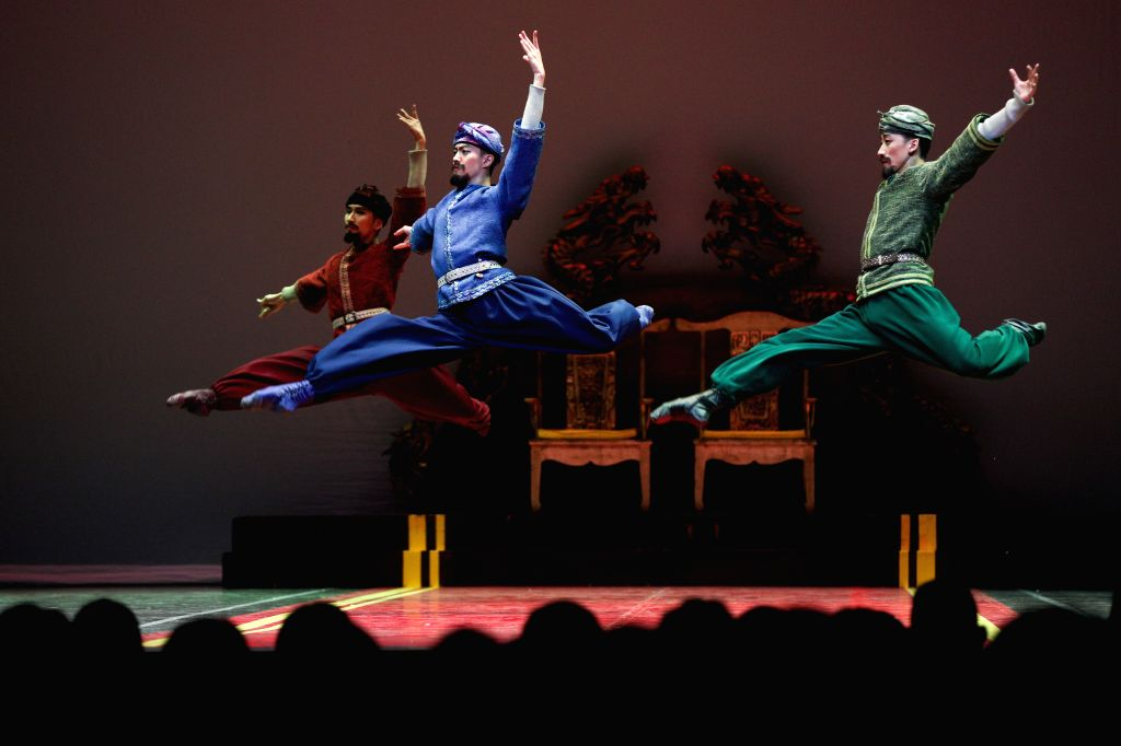 """BRUSSELS, Sept. 11, 2019 - Artists dance during the ballet """"The Last Mission of Marco Polo"""" at the Royal Circus in Brussels, Belgium, on Sept. 11, 2019. Performed by China's Shanghai ..."""