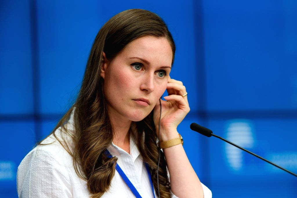 BRUSSELS, Sept. 20, 2019 - Finnish Minister of Transport and Communications Sanna Marin attends a press conference of the EU Transport, Telecommunications and Energy Council, in Brussels, Belgium, ...