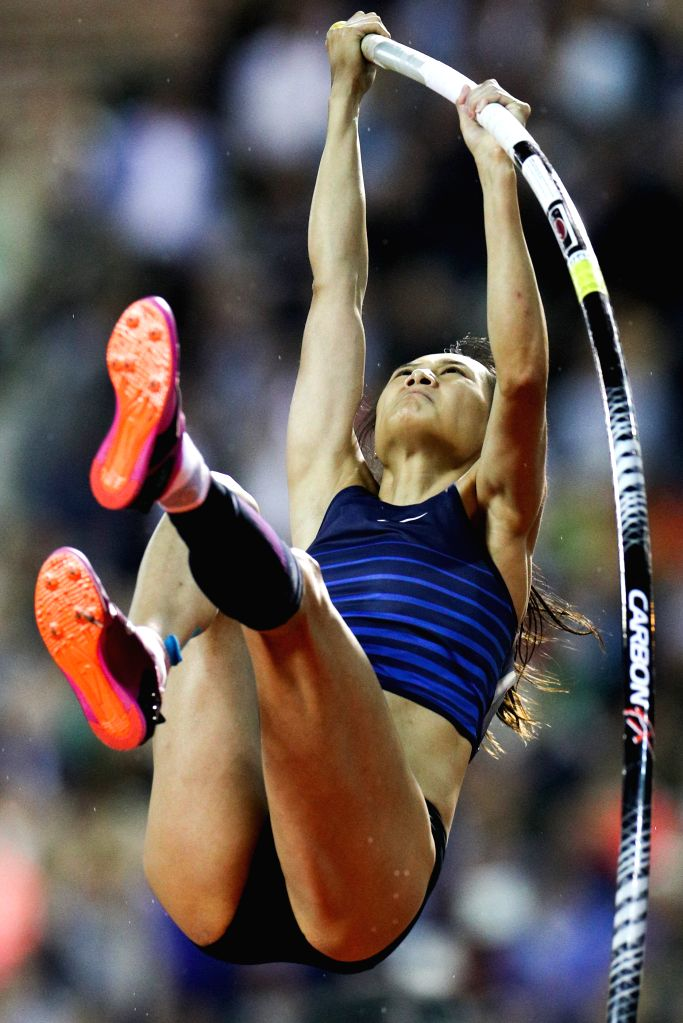 BRUSSELS, Sept. 7, 2019 - Li Ling of China competes during the women's pole vault final of the 2019 IAAF Diamond League Final in Brussels, Belgium, Sept. 6, 2019.