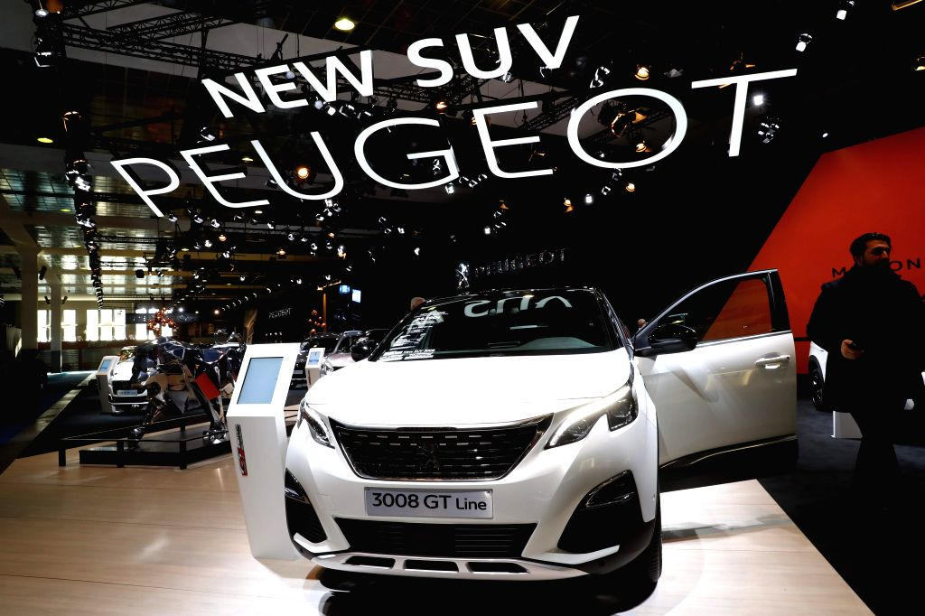 BRUSSLES, Jan. 14, 2017 - A Peugeot 3008 GT Line is displayed during media day of the 95th European Motor Show for Cars and Motorcycles held in Brussels, capital of Belgium, Jan. 13, 2017.  ...