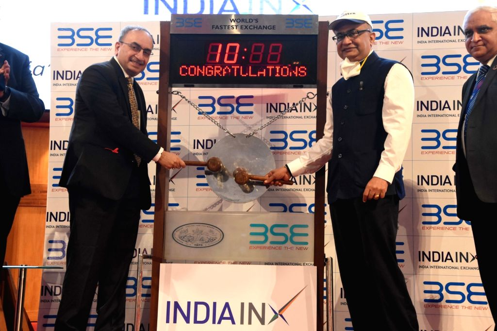 BSE and India INX listing ceremony of USD 600 Mn. notes under USD 10 BnGMTN Programme of SBI on occasion see SBI, Chairman, DInesh Kumar Khara and BSE, CEO, Ashish Kumar Chauhan at BSE in ... - Ashish Kumar Chauhan