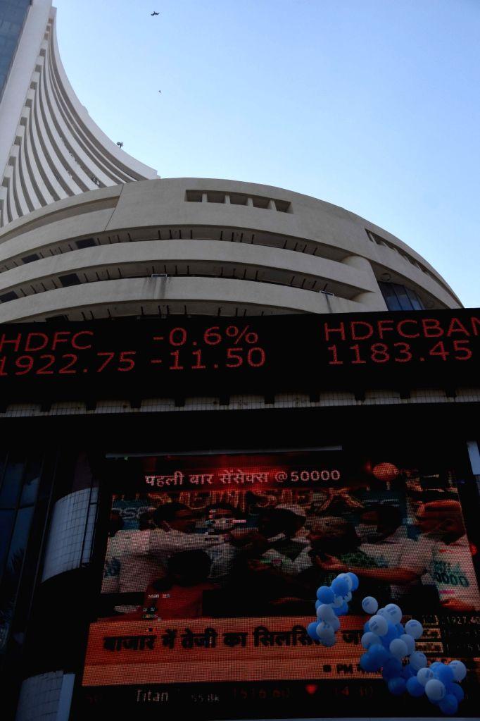 BSE Sensex above 50,000 on occasion celebration