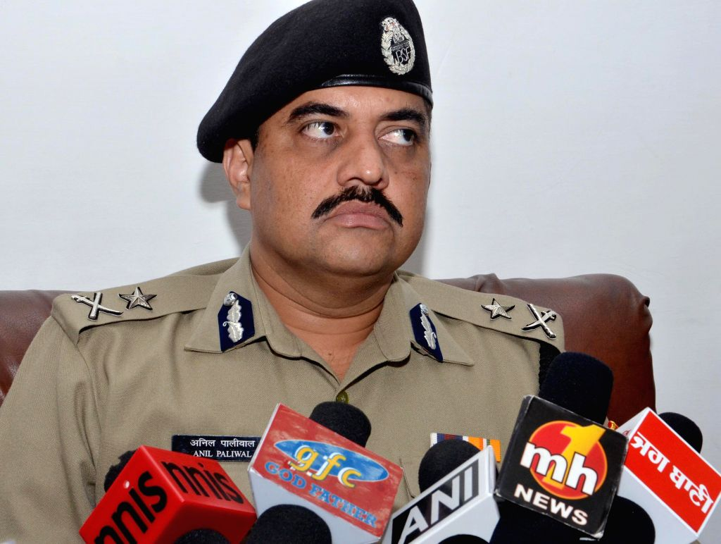 BSF's Inspector General (IG), Frontier, Anil Paliwal during a press conference in Amritsar, on Aug 12, 2015.