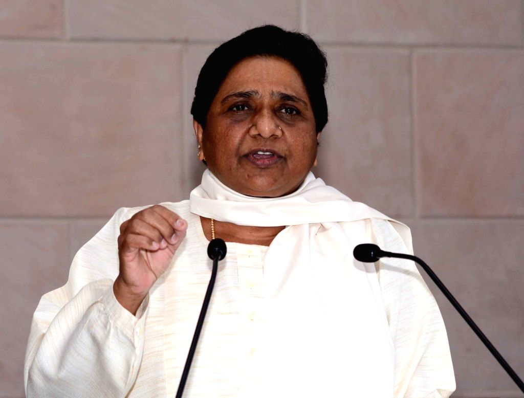 BSP chief Mayawati addresses a press conference in Lucknow on July 3, 2016.