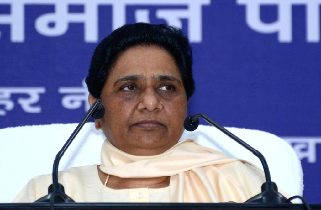 BSP chief Mayawati addresses during a party meeting in Lucknow on June 17, 2016.