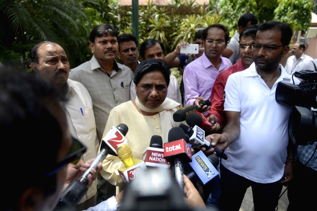 BSP chief Mayawati at Parliament in New Delhi, on July 22, 2016.