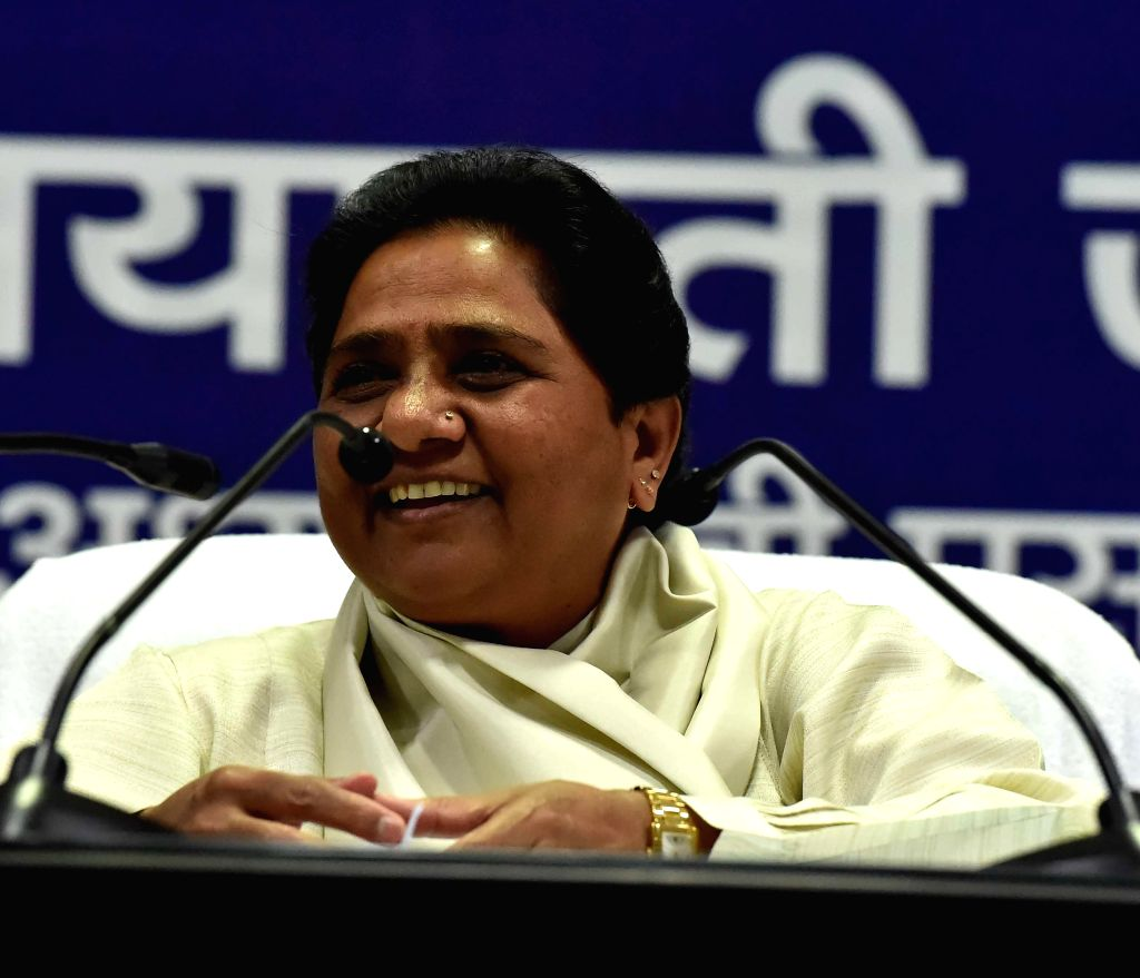 BSP chief Mayawati during a press conference in Lucknow on Aug. 23, 2014.