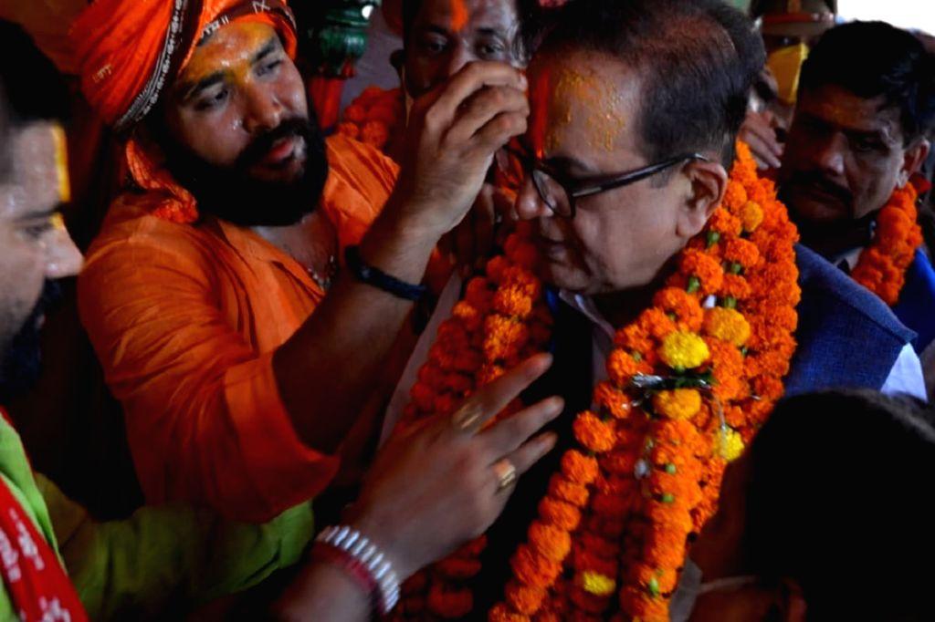 BSP MP Satish Chandra Mishra in Ayodhya - Satish Chandra Mishra
