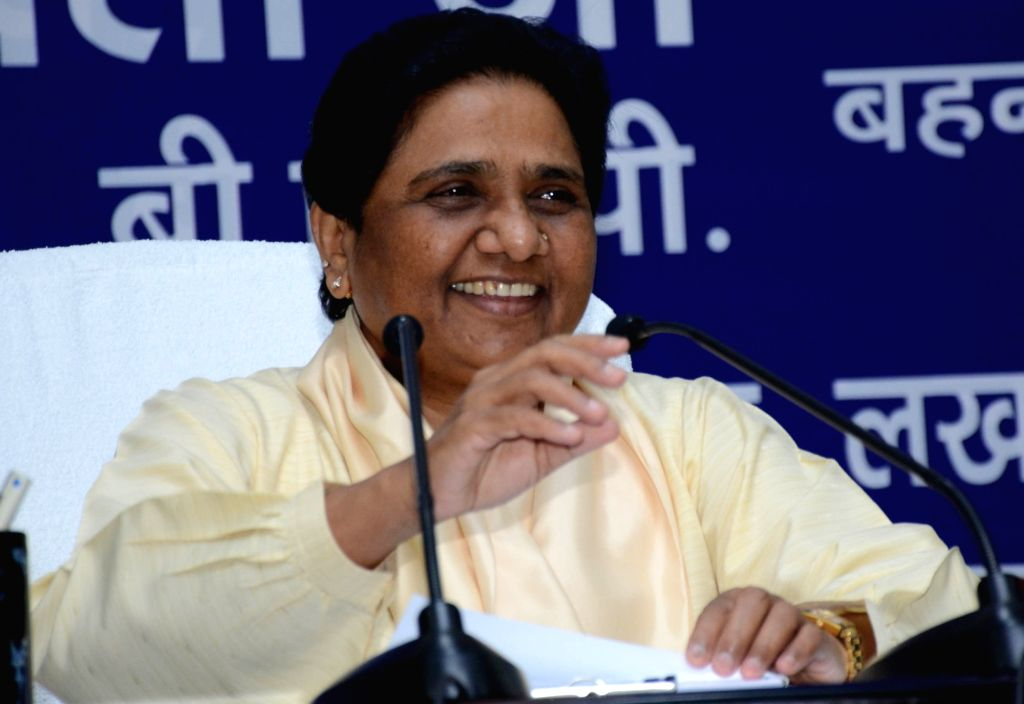 BSP supremo Mayawati addresses a press conference in Lucknow on June 28, 2016.