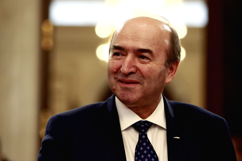 BUCHAREST, Feb. 9, 2019 - Romanian Justice Minister Tudorel Toader attends the EU Informal Justice Council meeting in Bucharest, Romania, Feb. 8, 2019. Most viewpoints on the future of European ... - Tudorel Toader