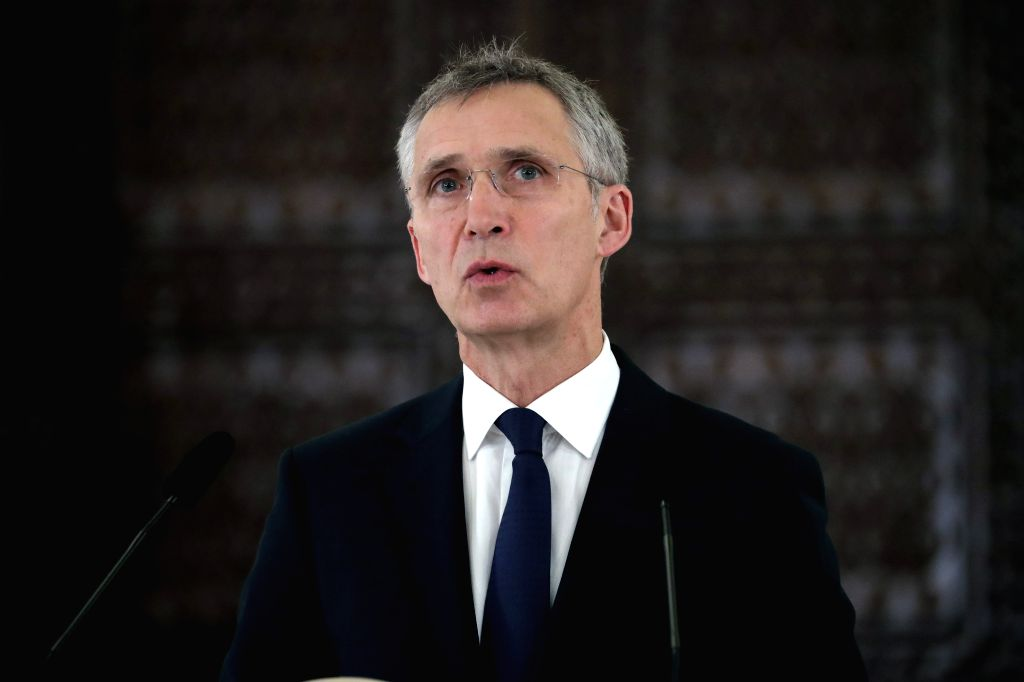 BUCHAREST, Jan. 31, 2019 - NATO Secretary General Jens Stoltenberg speaks at a news conference in Bucharest, Romania, Jan. 31, 2019. NATO stays the bedrock of the European security and the efforts of ...