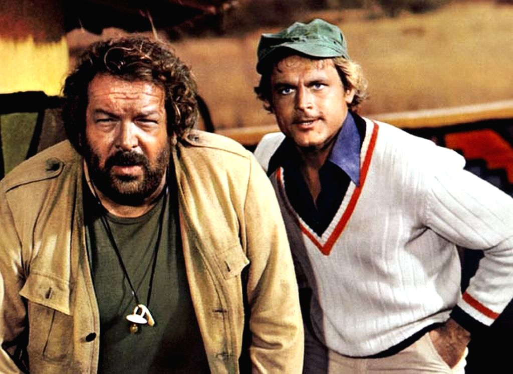 Bud Spencer and Terence Hill in another of the 20 mapcap action comedies they did in the 1970s and 1980s