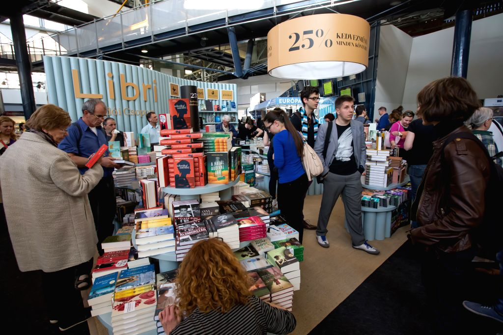 BUDAPEST, April 22, 2016 - People visit a book fair on the opening day of the 23rd Budapest International Book Festival in Budapest, Hungary on April 21, 2016. The four-day 23rd Budapest ...