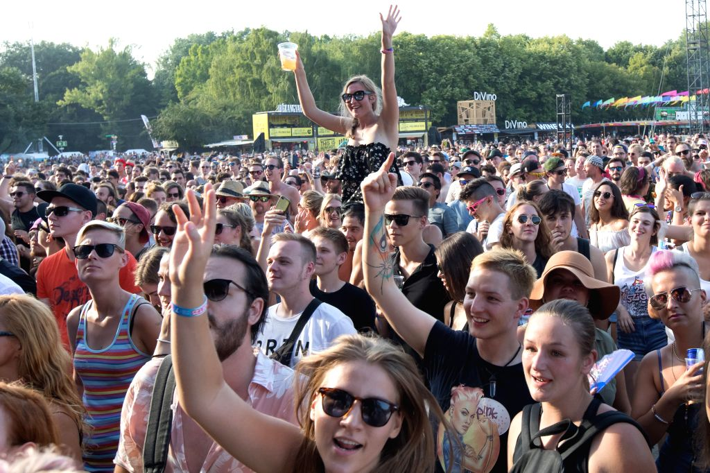 BUDAPEST, Aug. 9, 2017 - Revellers enjoy the performance of the band Dubioza Kolektiv from Bosnia and Herzegovina during the 25th Sziget Festival in Budapest, Hungary on Aug. 9, 2017. The 25th Sziget ...
