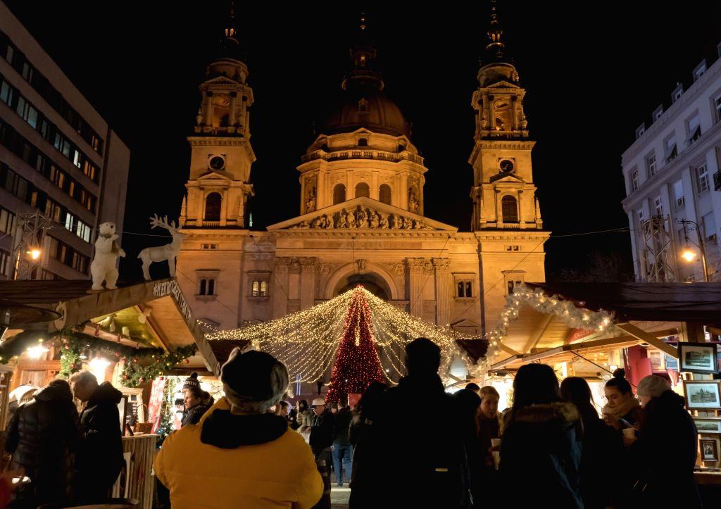 Budapest Christmas Market 2018.Hungary Budapest Christmas Market
