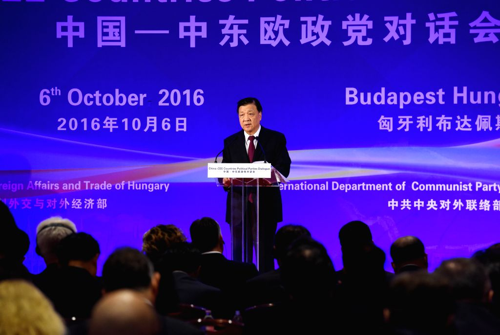 BUDAPEST, Oct. 6, 2016 - Liu Yunshan, a member of the Standing Committee of the Political Bureau of the Central Committee of the Communist Party of China, addresses the China-CEE (Central and Eastern ...