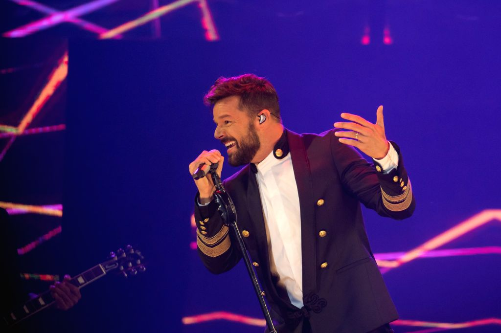 BUDAPEST, Sept. 5, 2018 - Singer Ricky Martin performs during his concert in Budapest, Hungary on Sept. 4, 2018.