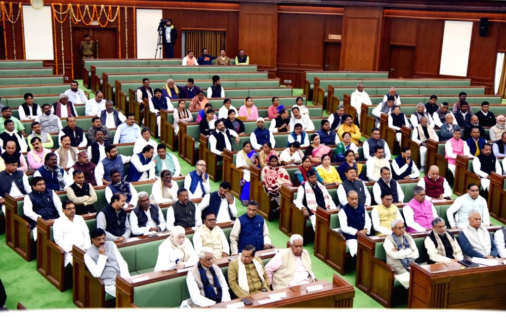 Budget session of Bihar Assembly underway in Patna on Feb 11, 2019.