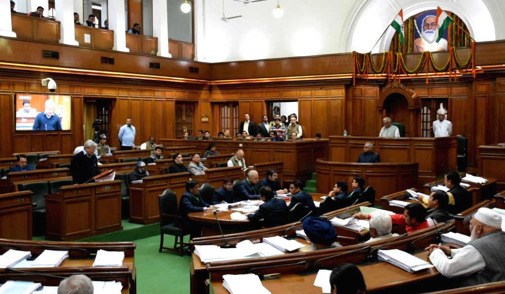 Budget session of Delhi Legislative Assembly on Feb 25, 2019.