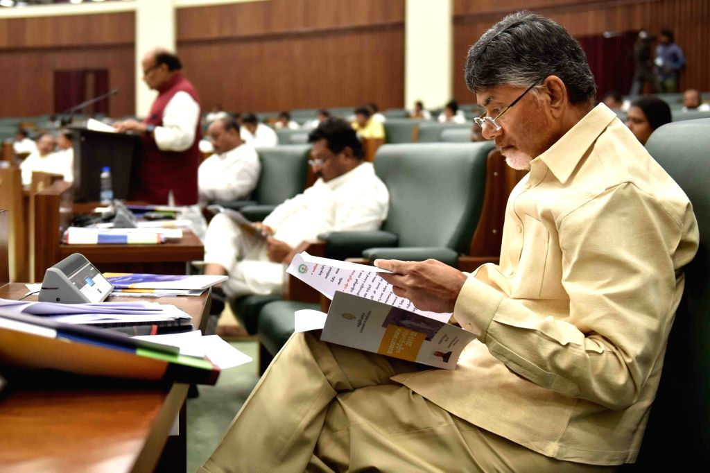 Budget Session of the state assembly underway, in Vijayawada on Feb 5, 2019.