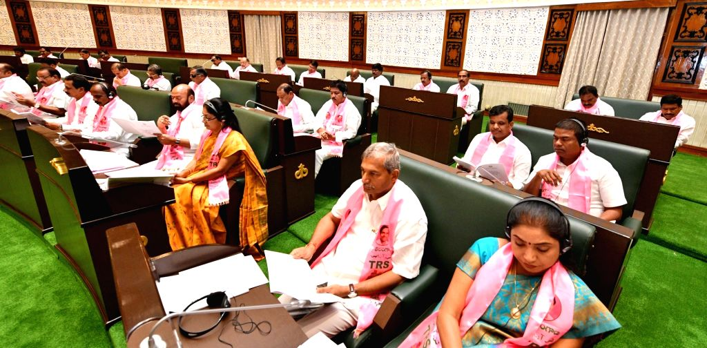 Budget session underway at Telangana assembly, in Hyderabad, on Feb 22, 2019.