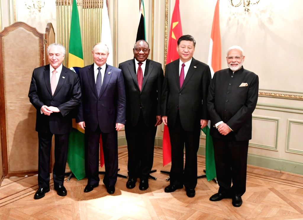 Buenos Aires: ers of the BRICS nations - Prime Minister Narendra Modi, Brazilian President Mechel Temer, Chinese president Xi Jinping, Russian President Vladimir Putin and South African President ... - Narendra Modi