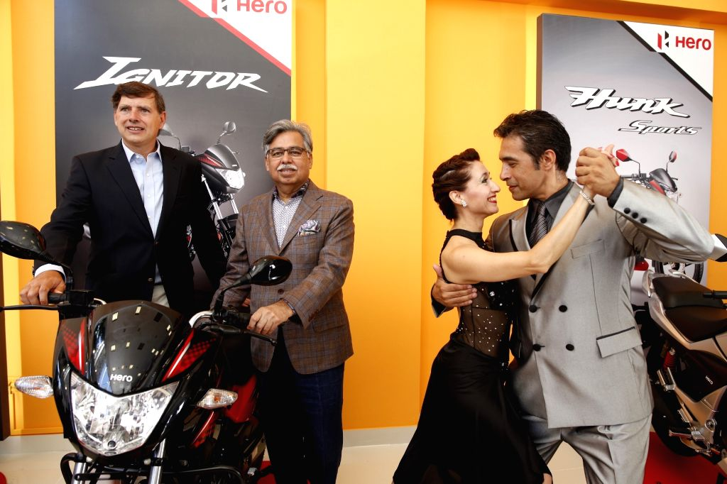 Buenos Aires: Hero MotoCorp Chairman Pawan Munjal at the global launch of New Glamour -called 'Ignitor' in Central & South American markets in Buenos Aires, Argentina.