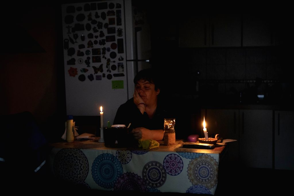 BUENOS AIRES, June 17, 2019 - People wait for the power supply to resume in Argentina, June 16, 2019. The massive blackout occured in Argentina at about 7:00 am local time (1000 GMT) and also hit ...