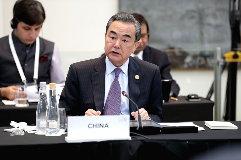 BUENOS AIRES, May 22, 2018 - Chinese State Councilor and Foreign Minister Wang Yi addresses the G20 foreign ministers' meeting in Buenos Aires, Argentina, May 21, 2018. - Wang Y