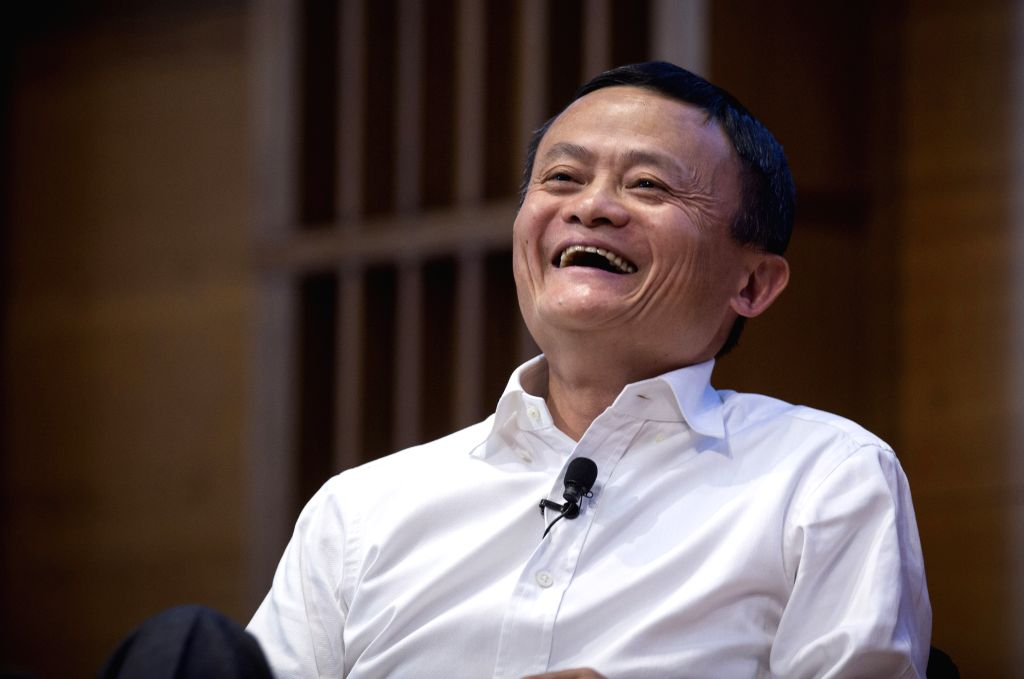 BUENOS AIRES, May 5, 2017 - Photo taken on May 2, 2017 shows founder and CEO of Chinese e-commerce giant Alibaba Jack Ma delivering a speech during a conference at the Cultural Center of Science in ...