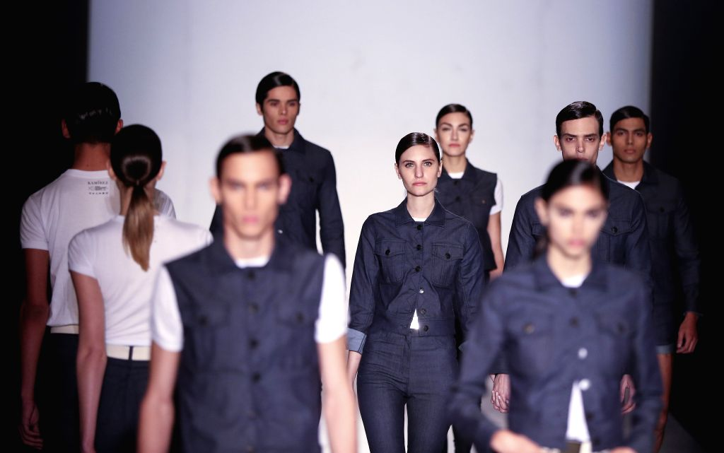 Buenos Aires: Models wear creations by Argentinian desginer Pablo Ramirez during the Buenos Aires Fashion Week (Bafweek) Spring/Summer 2015-2016 in Buenos Aires, Argentina, 11 August 2015. ...