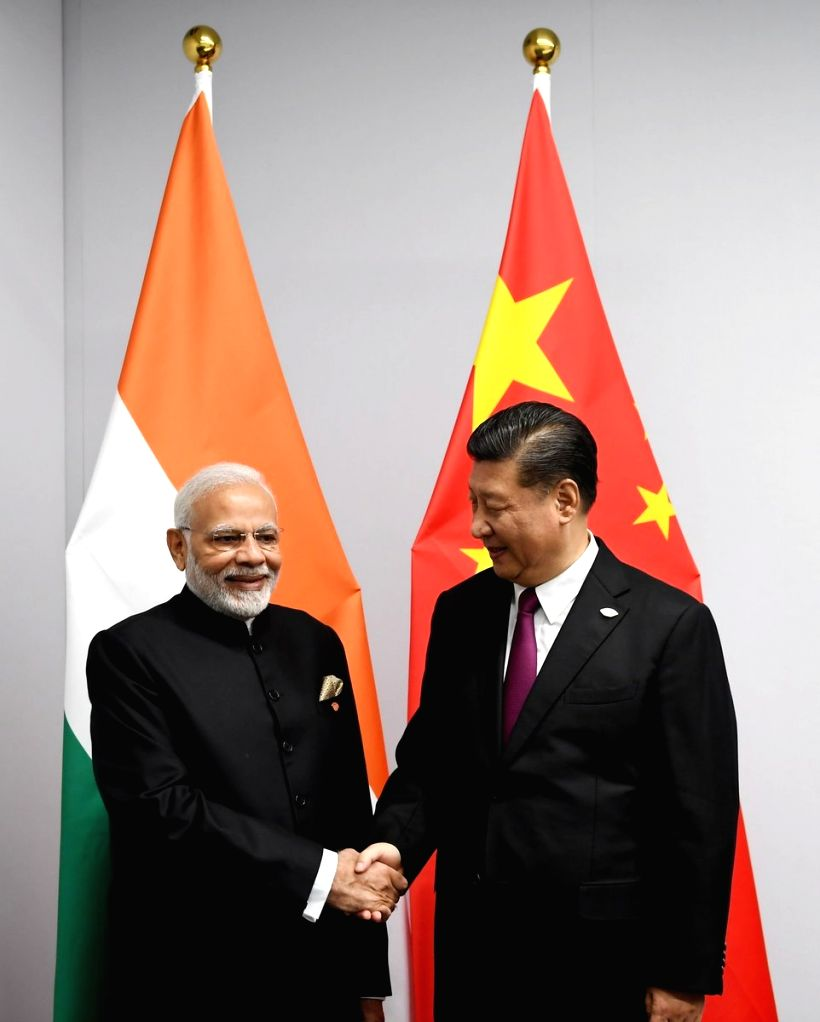 Buenos Aires: Prime Minister Narendra Modi meets Chinese president Xi Jinping on the sidelines of the 13th G20 Summit in Buenos Aires, Argentina on Nov 30, 2018. - Narendra Modi