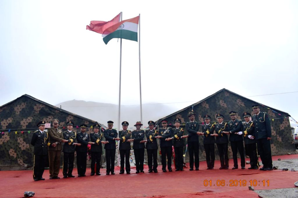 Bumla: Special Border Personnel Meeting between India and China underway at Bumla in Arunachal Pradesh to celebrate 92nd Anniversary of People's Liberation Army Foundation Day on Aug 1, 2019. (Photo: IANS)