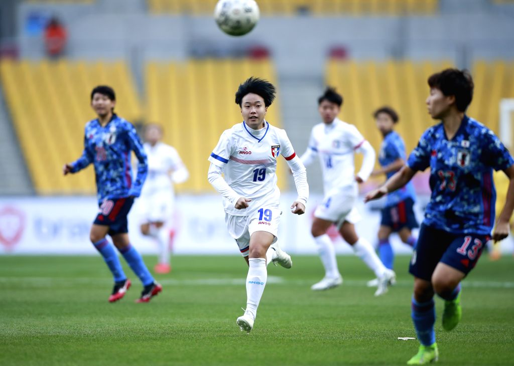 BUSAN, Dec. 11, 2019 - Su Yu-Hsuan (3rd L) of Chinese Taipei competes during the women's match against Japan at the 2019 East Asian Cup in Busan, South Korea, Dec. 11, 2019.