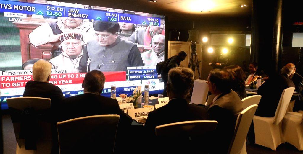 Business leaders keep a close eye as Union Finance Minister Piyush Goyal presents the interim budget 2019 in Parliament, in New Delhi on Feb 1, 2019. - Piyush Goyal