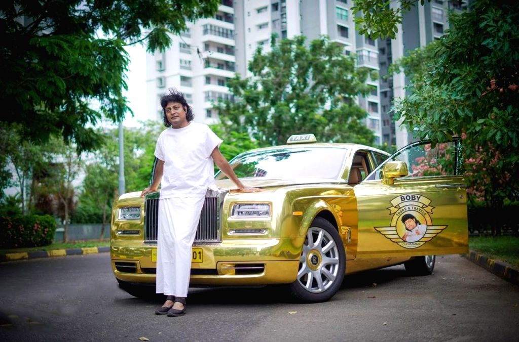 Businessman Boby Chemmanur who brought football legend Diego Marodana to Kerala, is again in the news for converting his Rolls Royce Phantom car into a tourist taxi.