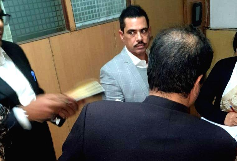 Businessman Robert Vadra appears before Enforcement Directorate in New Delhi on Feb 6, 201.